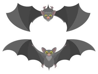 bat in flight gray cartoon picture drawing