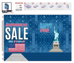 bright print template for the holiday america