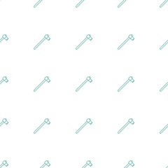 garden hammer icon pattern seamless white background