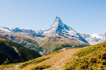 Zermatt, Findeln, Matterhorn, Sunnegga, Weiler, Alm, Alpen, Wallis, Gletscher, Sommer, Schweiz