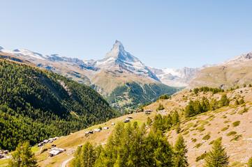 Zermatt, Findeln, Matterhorn, Sunnegga, Wanderweg, Weiler, Alm, Bergbauer, Wallis, Alpen, Sommer, Schweiz