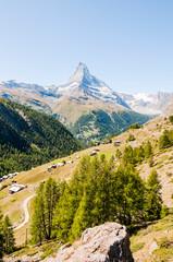 Zermatt, Findeln, Matterhorn, Sunnegga, Wanderweg, Weiler, Alm, Bergwiesen, Wallis, Alpen, Sommer, Schweiz
