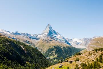 Zermatt, Findeln, Matterhorn, Sunnegga, Alpen, Wallis, Gletscher, Wanderweg, Weiler, Alm, Bergwiesen, Bergbauer, Sommer, Schweiz