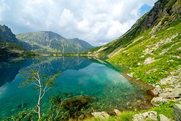 Black Pond under Rysy mountain - Lake in polish Tatra mountains, Poland
