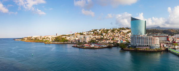 Im Hafen von Fort de France auf der Insel Martinique- ein Panorama