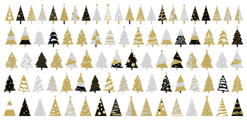 Christmas tree on white background vector illustration