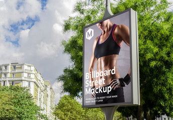 Outdoor Street Billboard Mockup
