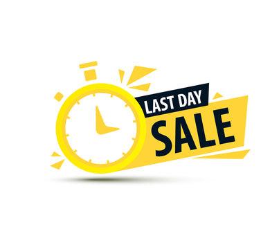 Sale countdown banner. Discount badjes