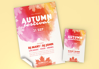 Fall Festival Flyer Set Layouts