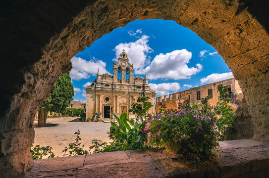 The Arkadi Monastery (in Greek Moní Arkadíou) is an Eastern Orthodox monastery, situated near Rethymno, is one of the most historic monasteries on Crete.
