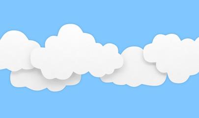 cloud background sky blue white empty