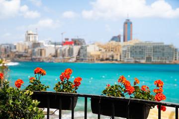 Fototapete - Malta, Valletta. Valletta street view.