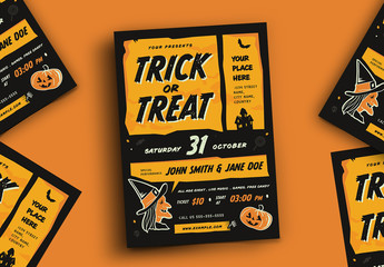 Trick or Treat Halloween Event Flyer