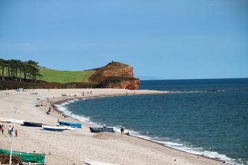 Budleigh Salterton beach in Devon
