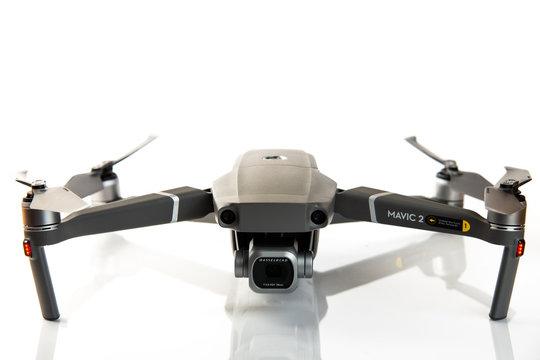 Mavic 2 Pro drone isolated on white background