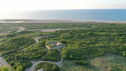 Stores à enrouleur Kaki Normandie: entre plage et fleuve