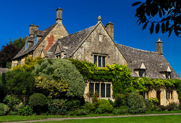 English country homes made from stone, Chipping Camden, Cotswolds, England, United Kingdom