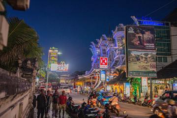 Foto auf Leinwand Bali Nachtleben auf Bali