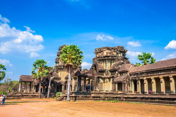 Gate of ancient temple complex Angkor Wat, Siem Reap, Cambodia.