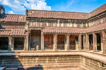 Ancient temple complex Angkor Wat, Siem Reap, Cambodia.