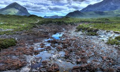 Landscape of Isle of Skye in northwest Scotland