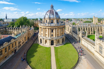 The city of Oxford with the Radcliffe Camera and All Souls College
