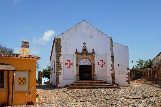 Santiago church in Castro Marim Castle, Portugal