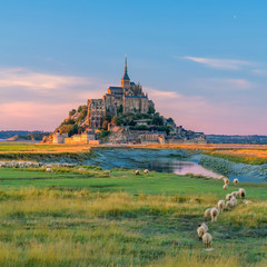 Wall Mural - Mont Saint-Michel in France