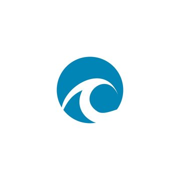 Water wave Logo Template, design concept vector
