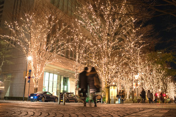 Christmas and new year illumination in Marunouchi, Tokyo 丸の内イルミネーション