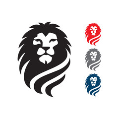 Great Lion head logo vector Pride and Power sign symbol elemen