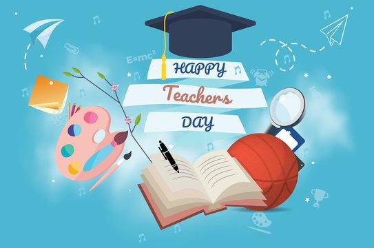 Happy world teacher's day background 2