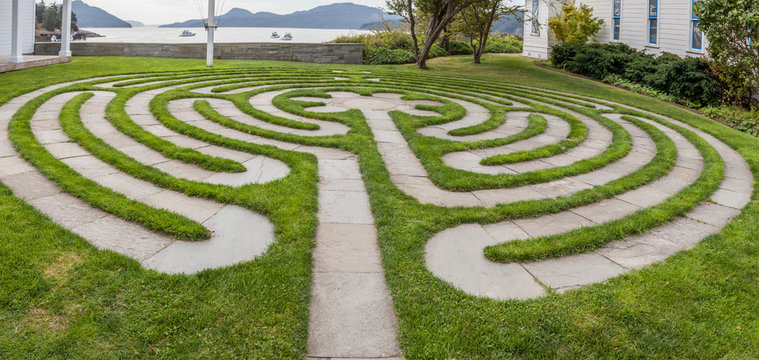labyrinth on waterfront