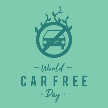 Simple letter emblem car free day for element design in flat style