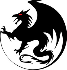 Tribal Tattoo Designs Round Design Dragon