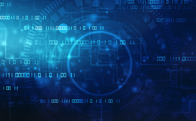 Binary Code Background, Digital Abstract technology background, flowing number one and zero text in binary code format in technology background. Futuristic background