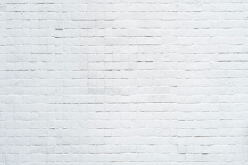 Abstract background from white brick pattern on wall. Vintage backdrop.