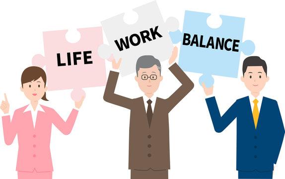 働き方改革とビジネスパーソンイメージ