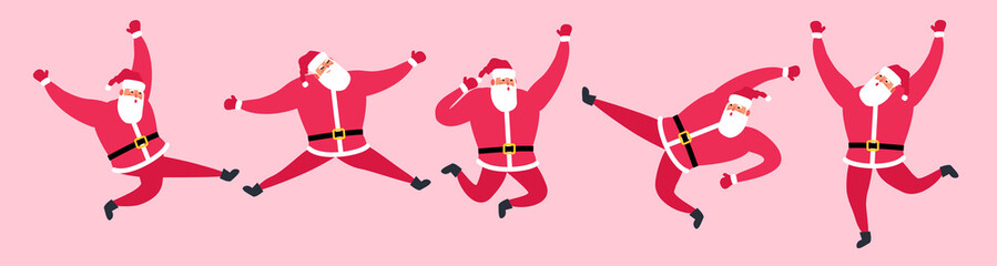 cute jumping santa claus set