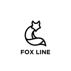 fox line unique animal logo icon designs icon vector