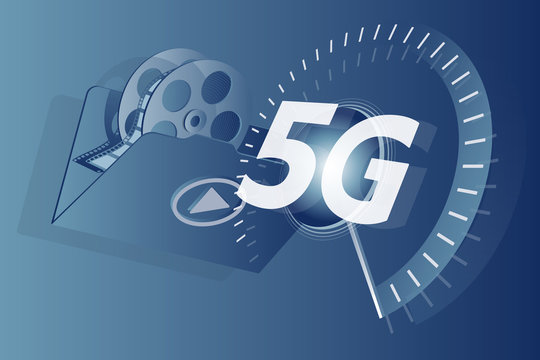 5G network for next generation video services. Infographic.