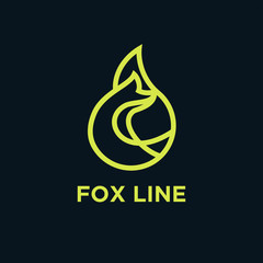 fox line logo icon designs vector