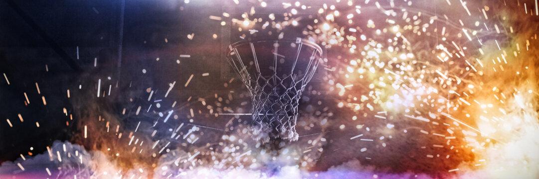 Basketball hoop hanging