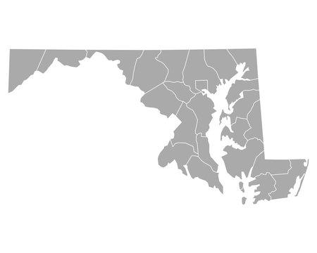 Karte von Maryland