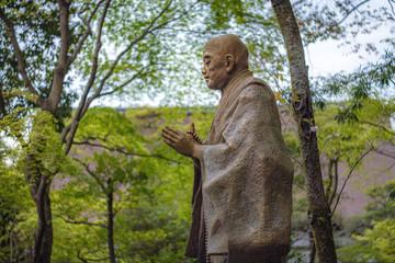 京都 知恩院 法然上人銅像