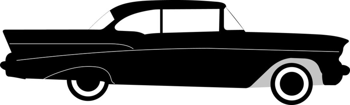 vintage american luxury car chevrolet belair or bel air vector
