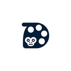 Monkey Cinema Production Creative Logo
