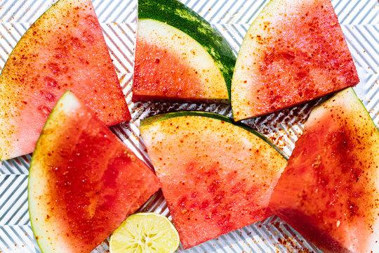 Watermelon With Tajin Seasoning On Chevron Buy This Stock Photo And Explore Similar Images At Adobe Stock Adobe Stock