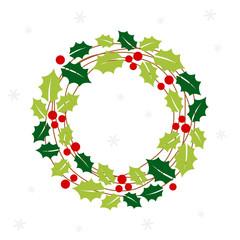 Christmas wreath card - Christmas set.