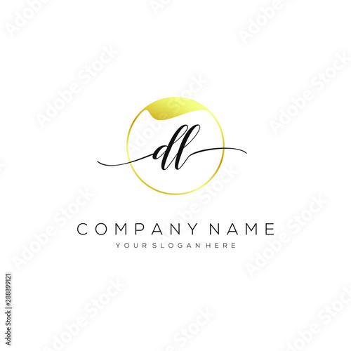 Dl Initial Handwriting Logo Vector Stock Image And Royalty Free Vector Files On Fotolia Com Pic 288899121